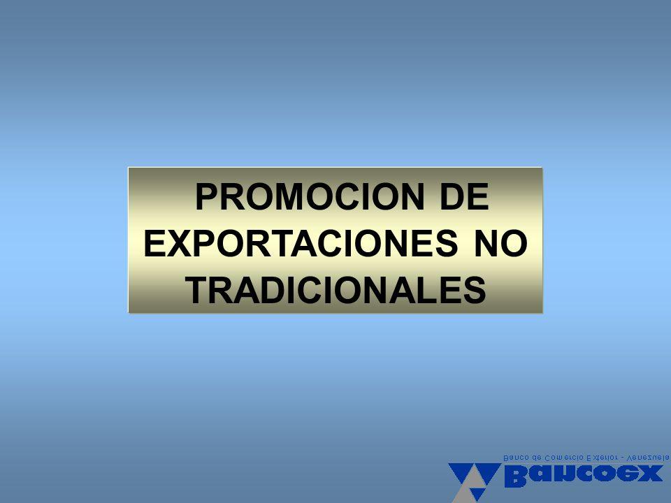 EXPORTACIONES NO TRADICIONALES