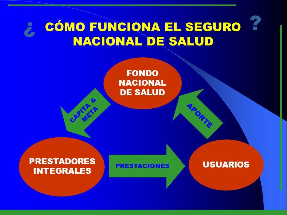 ¿ CÓMO FUNCIONA EL SEGURO NACIONAL DE SALUD FONDO NACIONAL DE SALUD