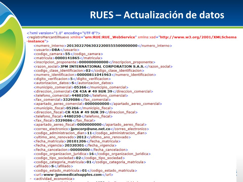 RUES – Actualización de datos