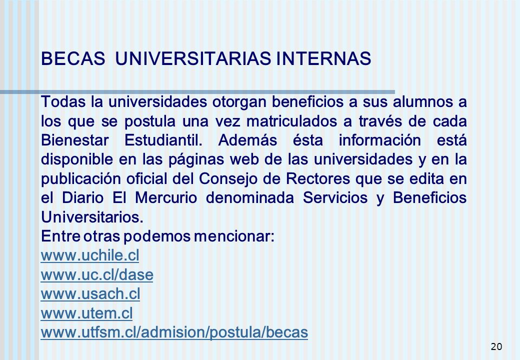 BECAS UNIVERSITARIAS INTERNAS