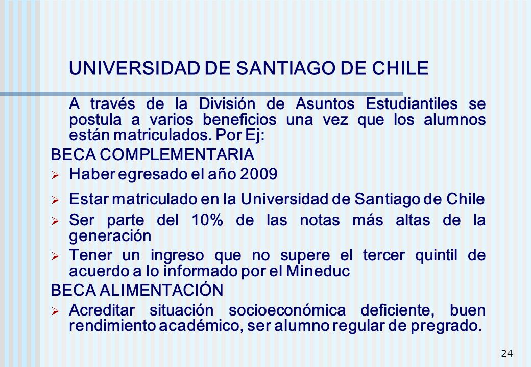 UNIVERSIDAD DE SANTIAGO DE CHILE