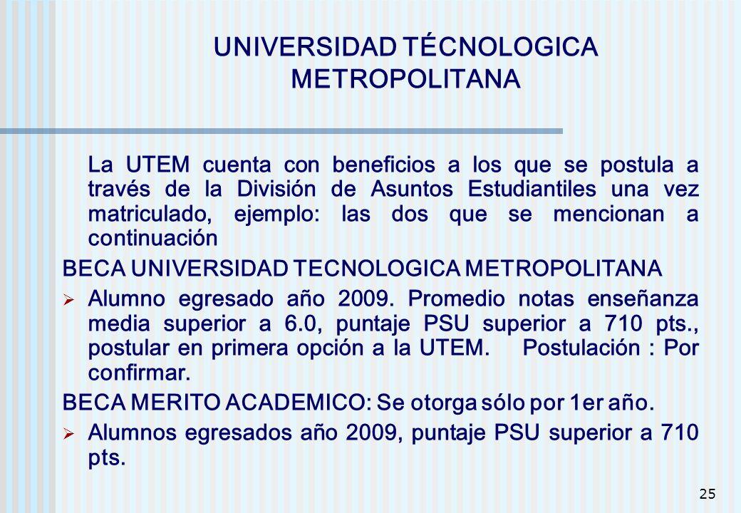 UNIVERSIDAD TÉCNOLOGICA METROPOLITANA