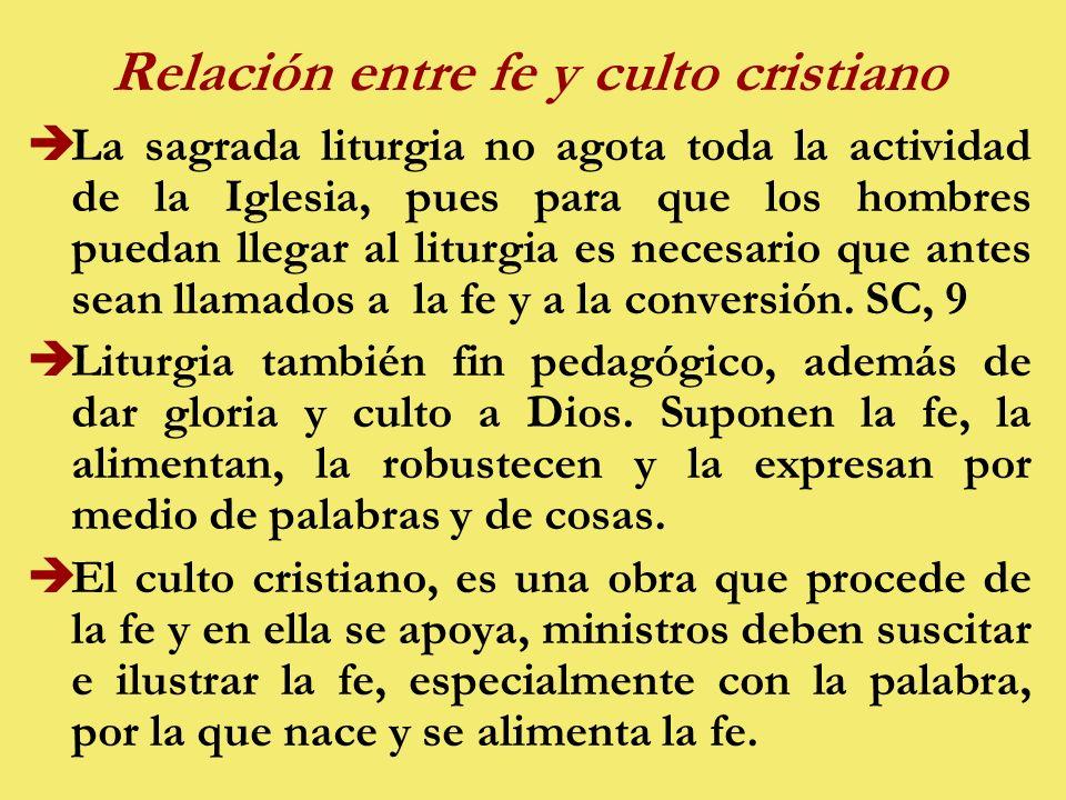 Relación entre fe y culto cristiano