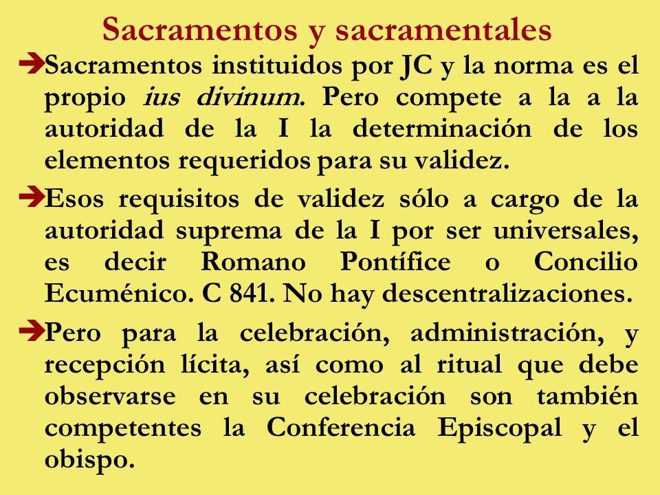 Sacramentos y sacramentales