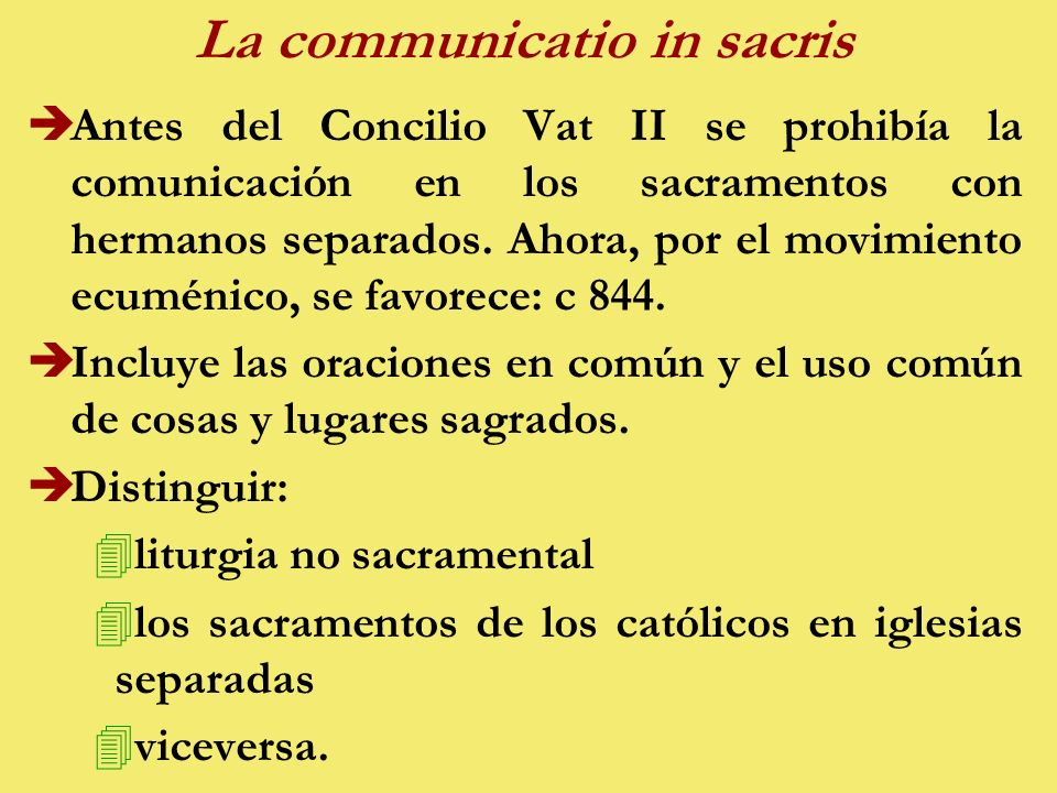 La communicatio in sacris