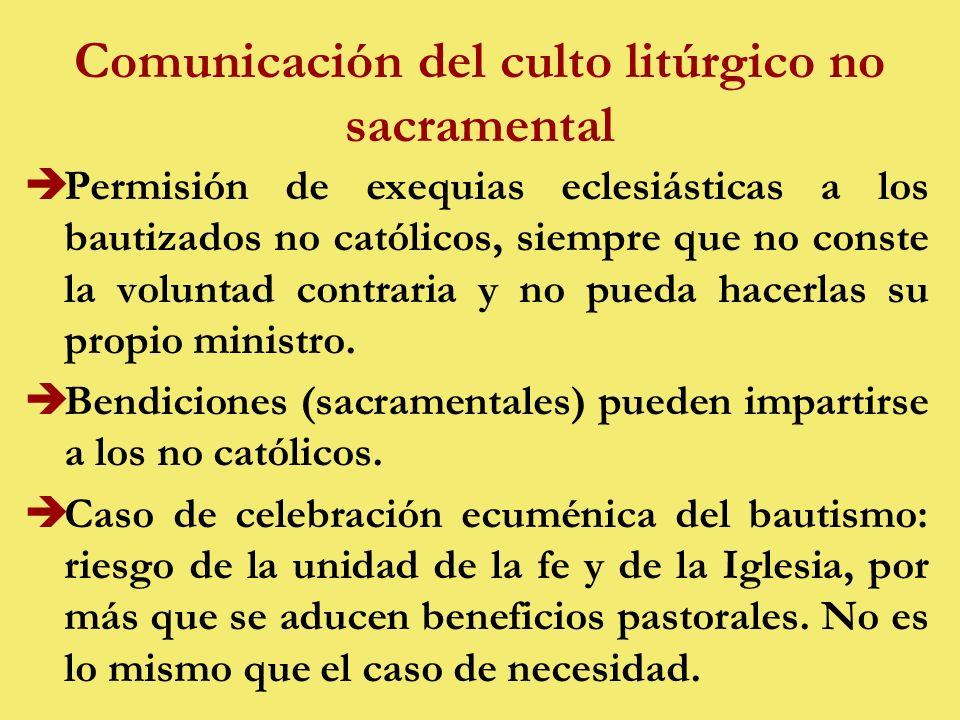 Comunicación del culto litúrgico no sacramental