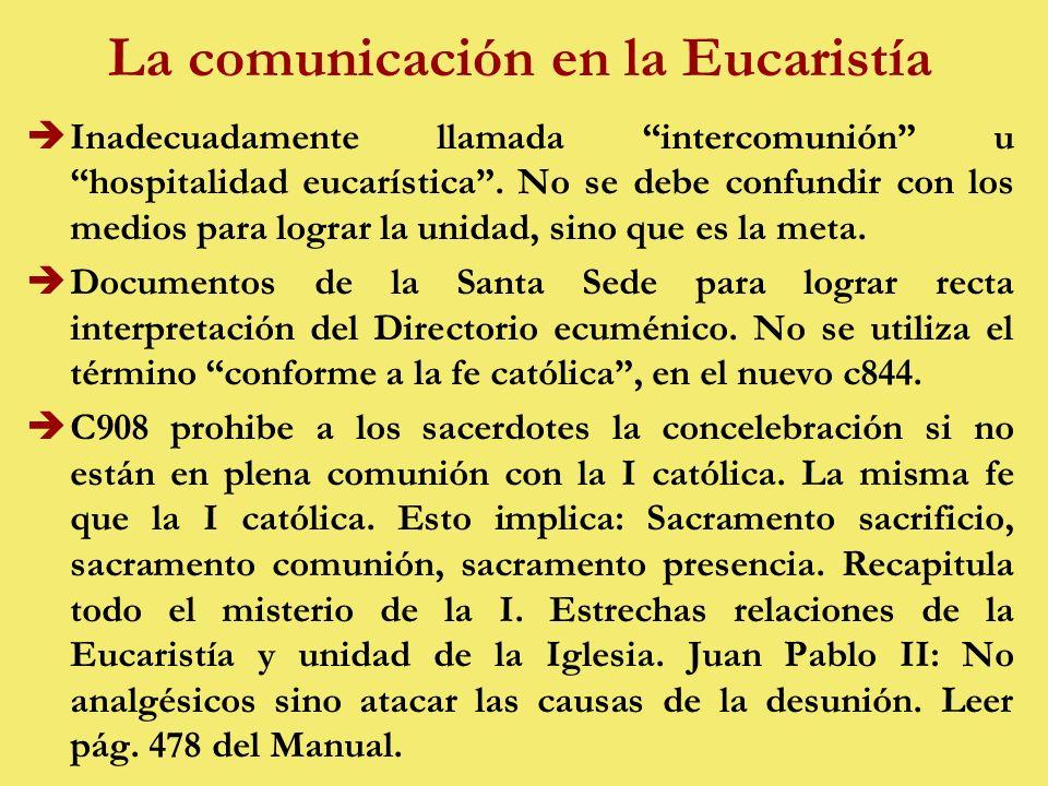 La comunicación en la Eucaristía