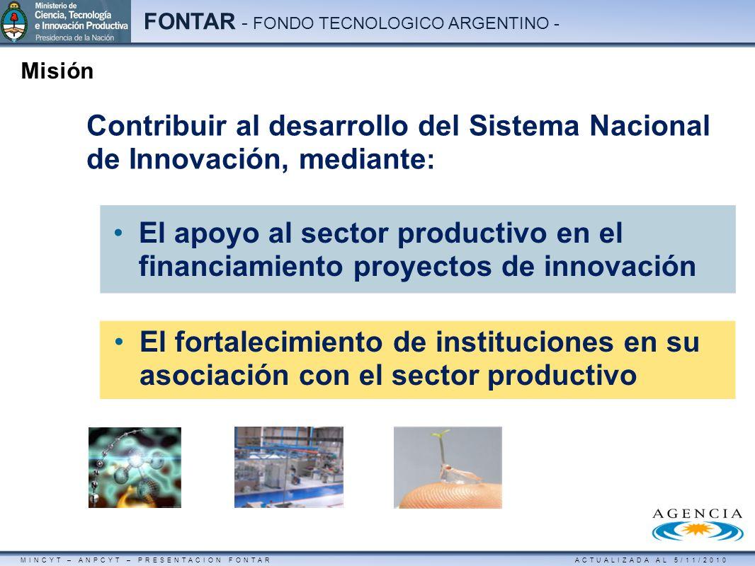 Contribuir al desarrollo del Sistema Nacional de Innovación, mediante: