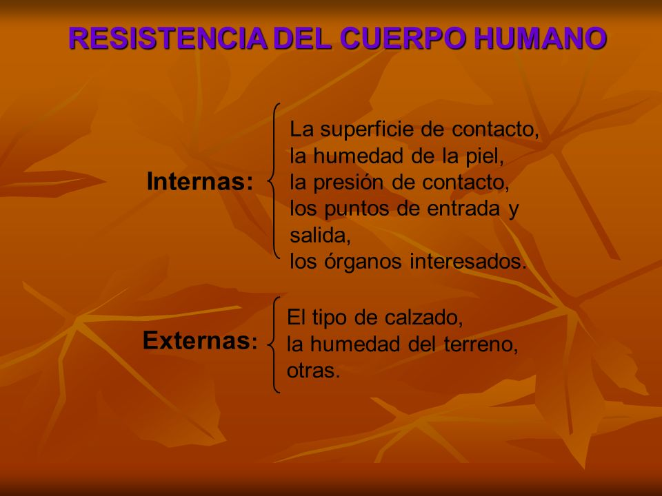 RESISTENCIA DEL CUERPO HUMANO