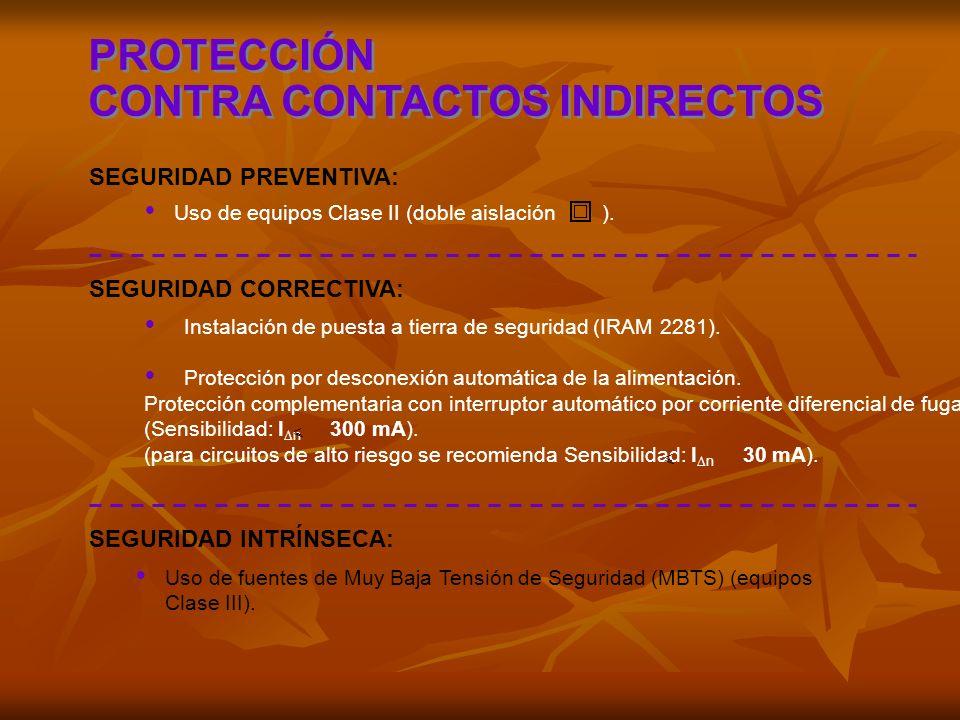 CONTRA CONTACTOS INDIRECTOS