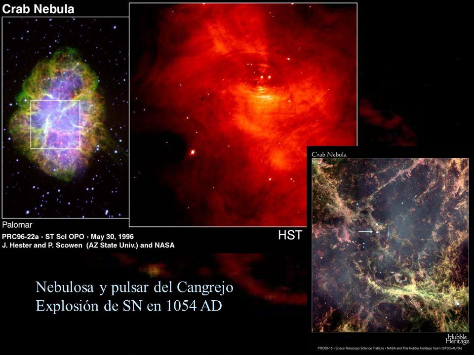 Nebulosa y pulsar del Cangrejo