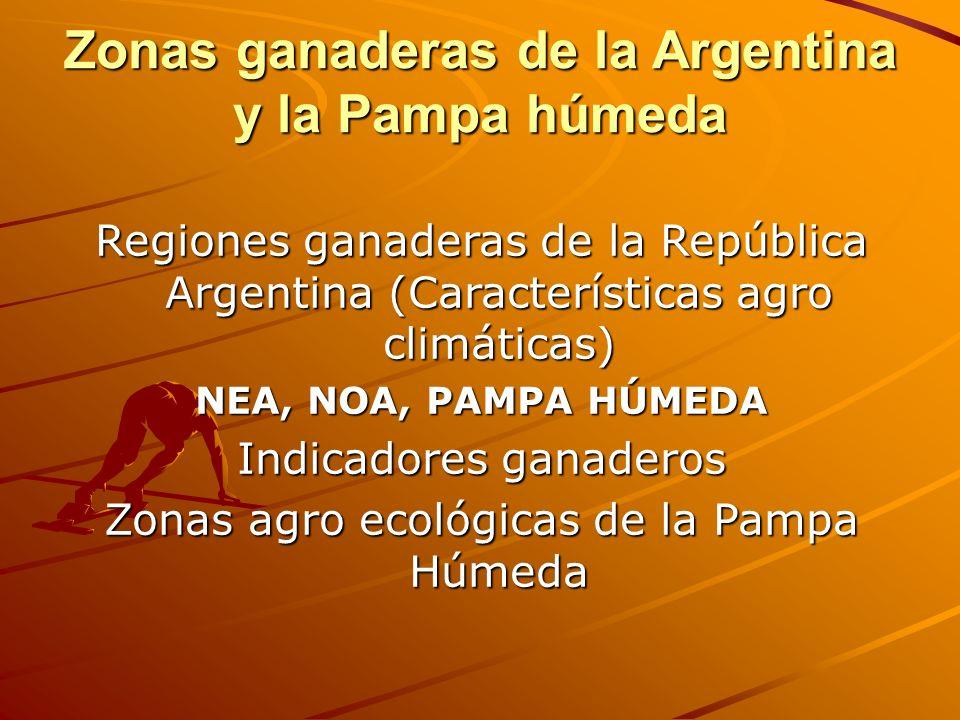 Zonas ganaderas de la Argentina y la Pampa húmeda