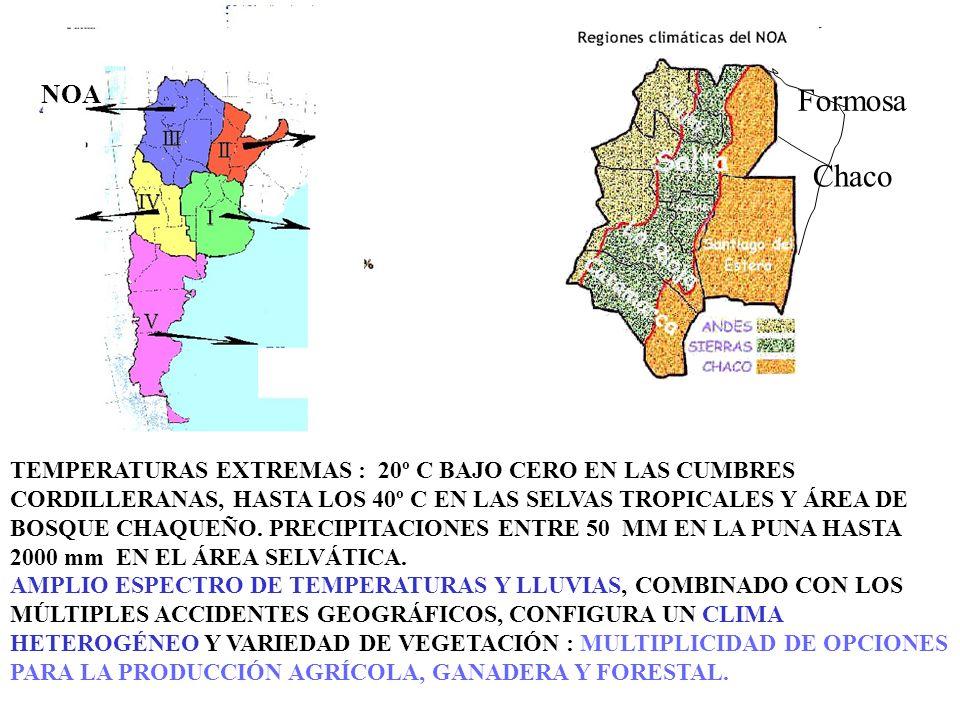 NOA Formosa. Chaco.