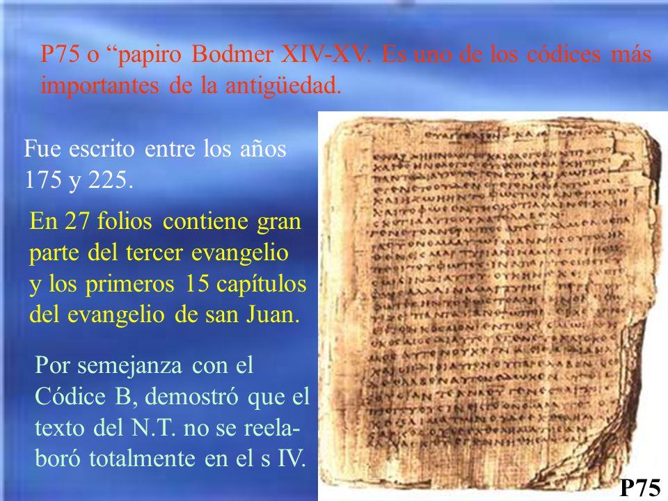 P75 o papiro Bodmer XIV-XV