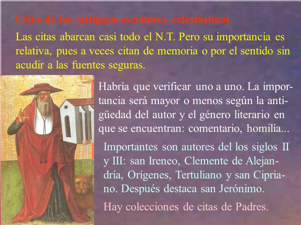 Citas de los antiguos escritores eclesiásticos