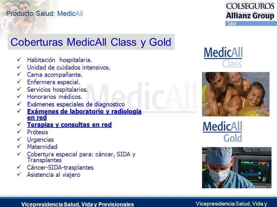 Coberturas MedicAll Class y Gold