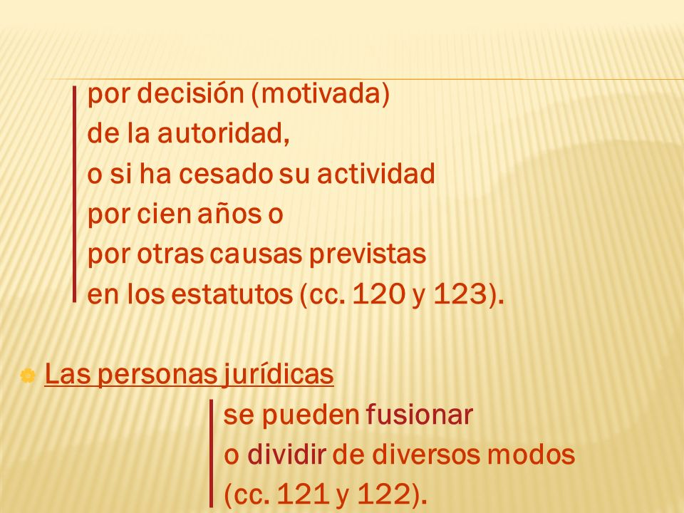 por decisión (motivada)