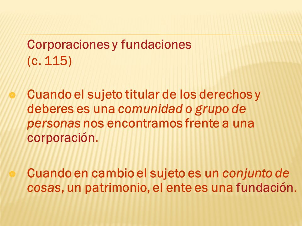 Corporaciones y fundaciones