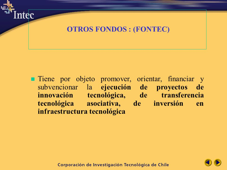 OTROS FONDOS : (FONTEC)