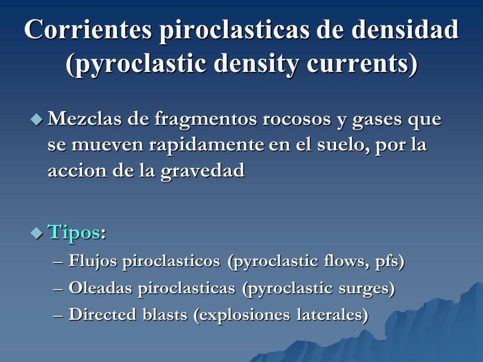 Corrientes piroclasticas de densidad (pyroclastic density currents)