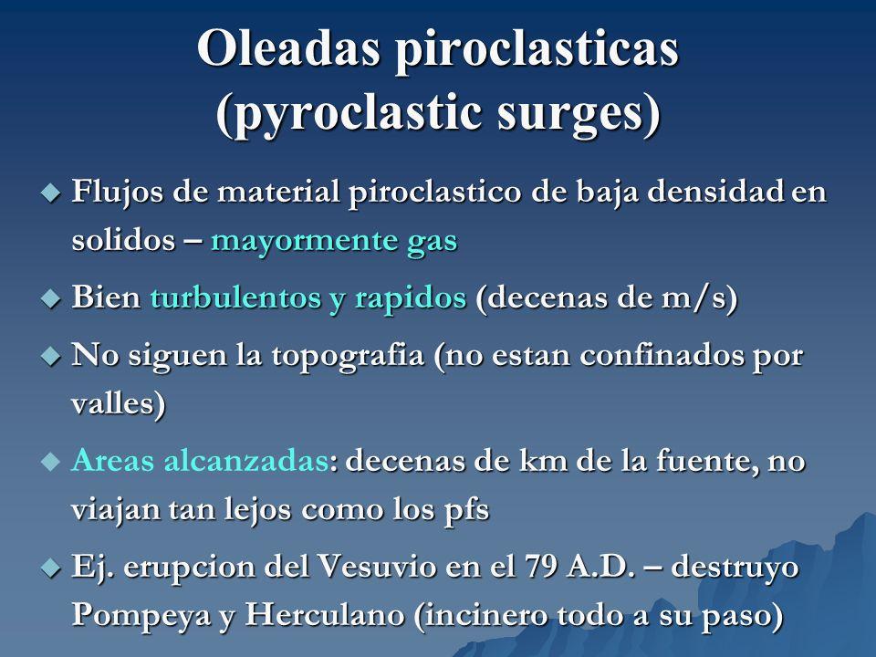Oleadas piroclasticas (pyroclastic surges)