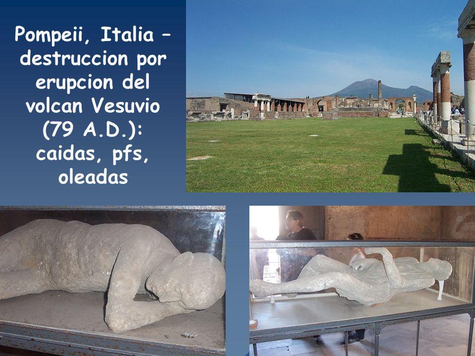 Pompeii, Italia – destruccion por erupcion del volcan Vesuvio (79 A. D