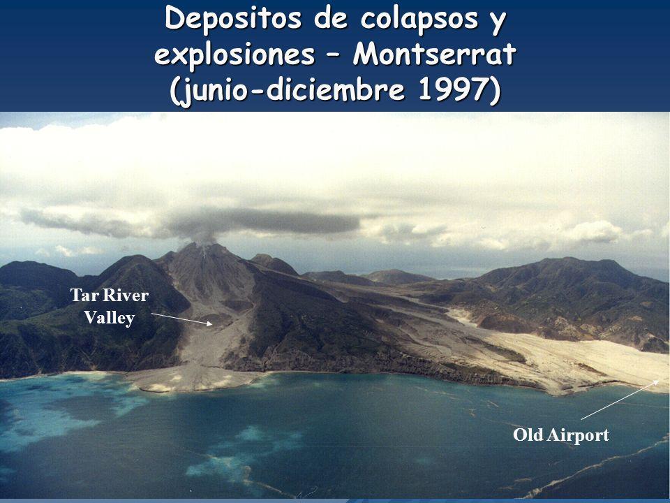 Depositos de colapsos y explosiones – Montserrat (junio-diciembre 1997)