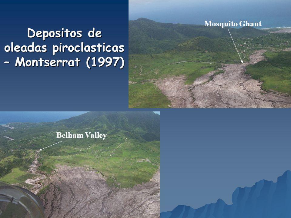 Depositos de oleadas piroclasticas – Montserrat (1997)