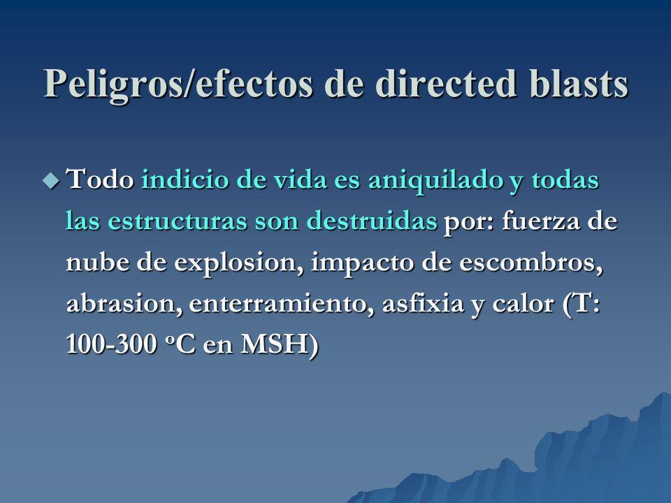 Peligros/efectos de directed blasts