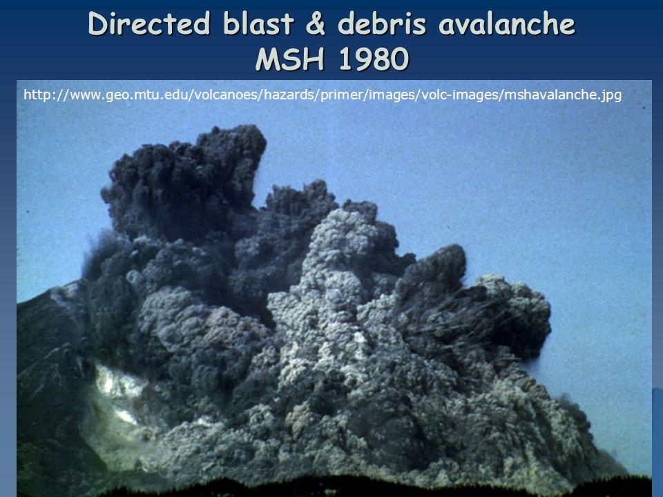 Directed blast & debris avalanche MSH 1980