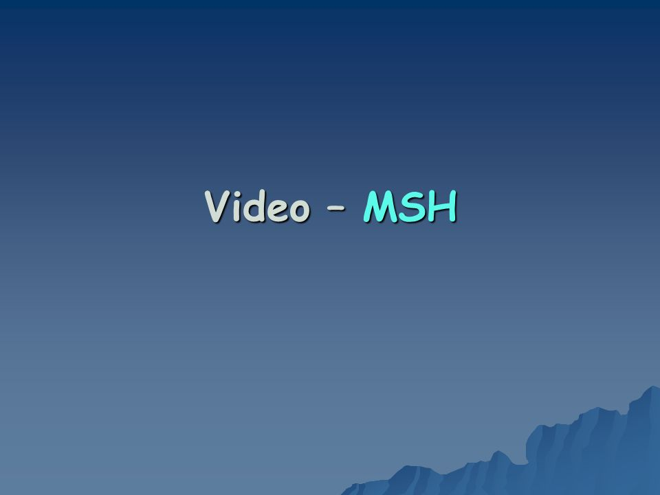 Video – MSH