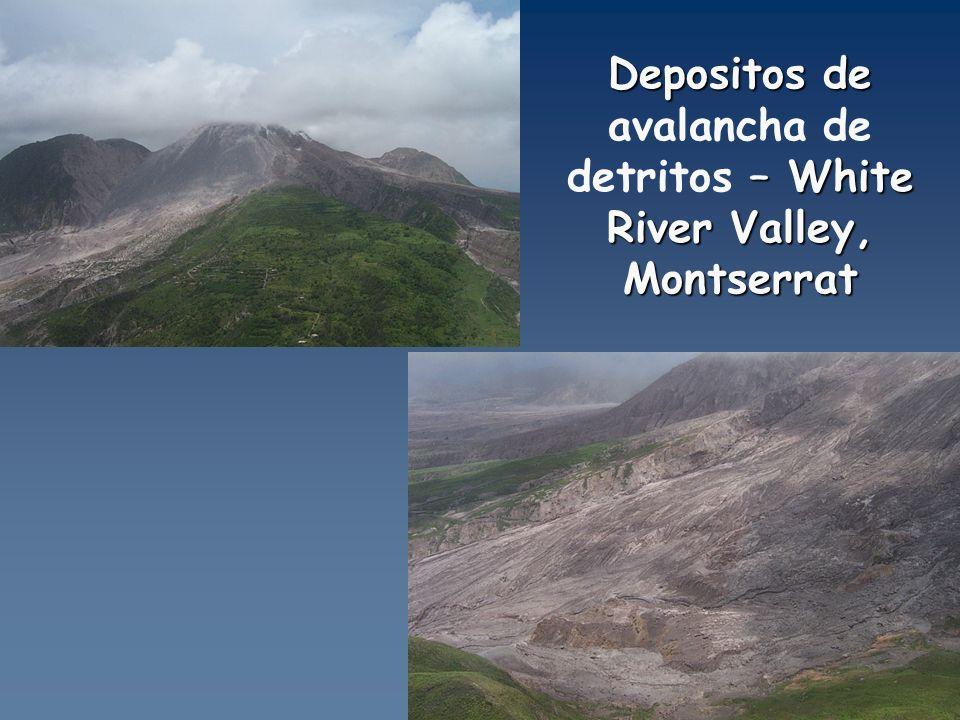 Depositos de avalancha de detritos – White River Valley, Montserrat
