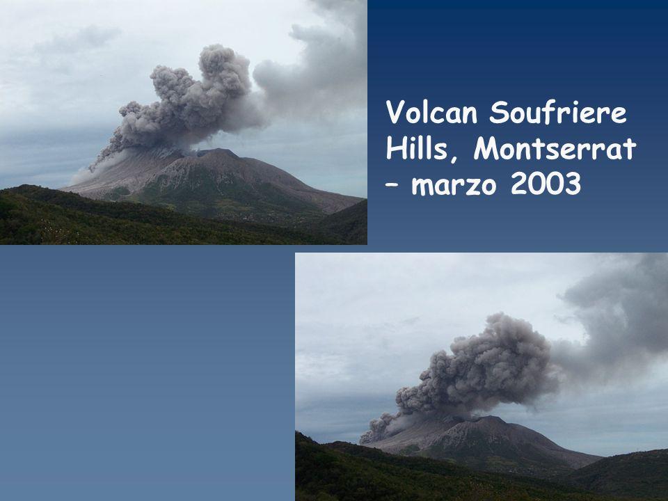 Volcan Soufriere Hills, Montserrat – marzo 2003