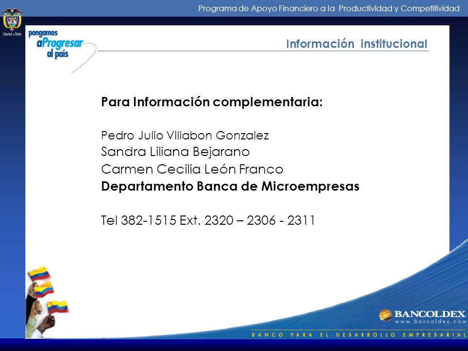 Para Información complementaria: