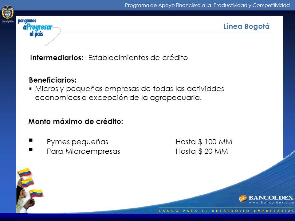 Intermediarios: : Establecimientos de crédito