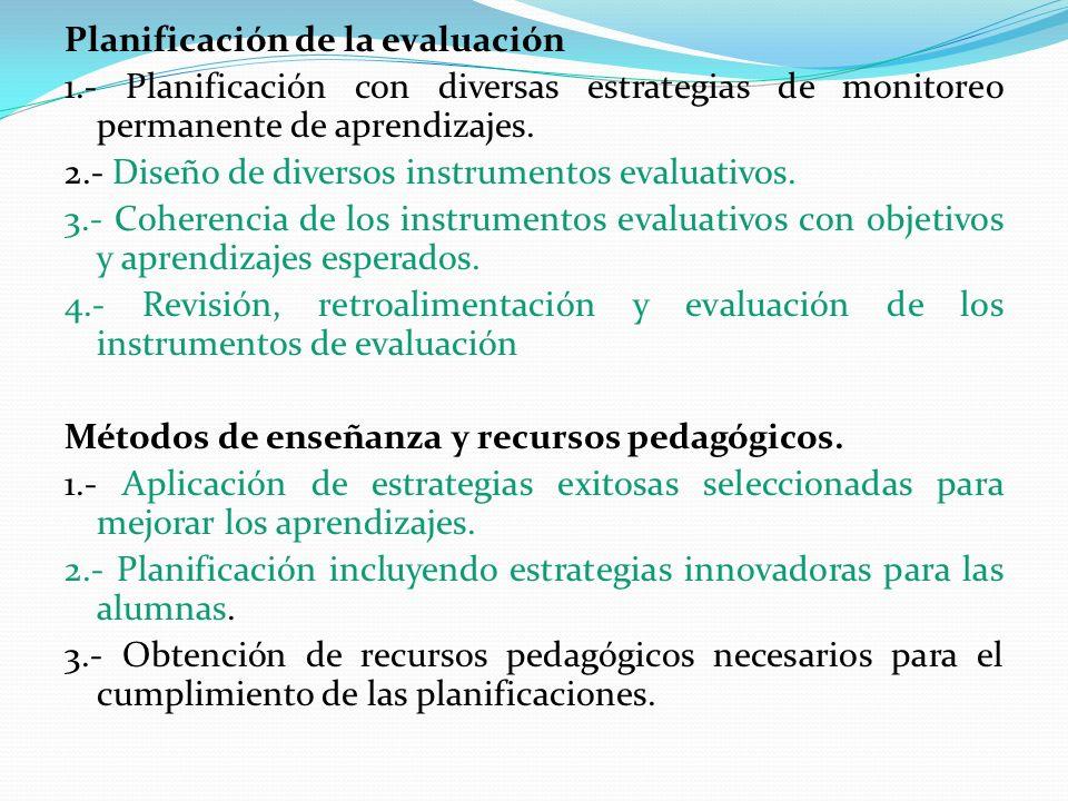 Planificación de la evaluación 1