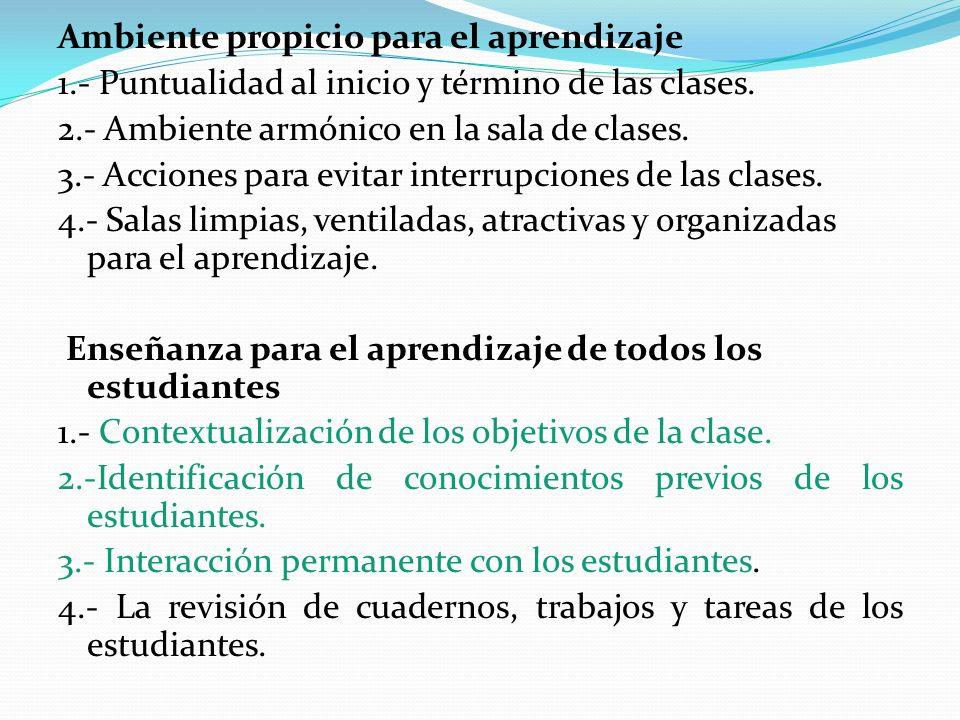 Ambiente propicio para el aprendizaje 1