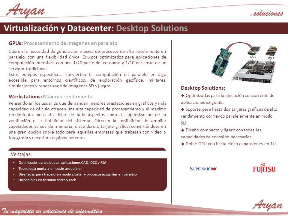 Virtualización y Datacenter: Desktop Solutions