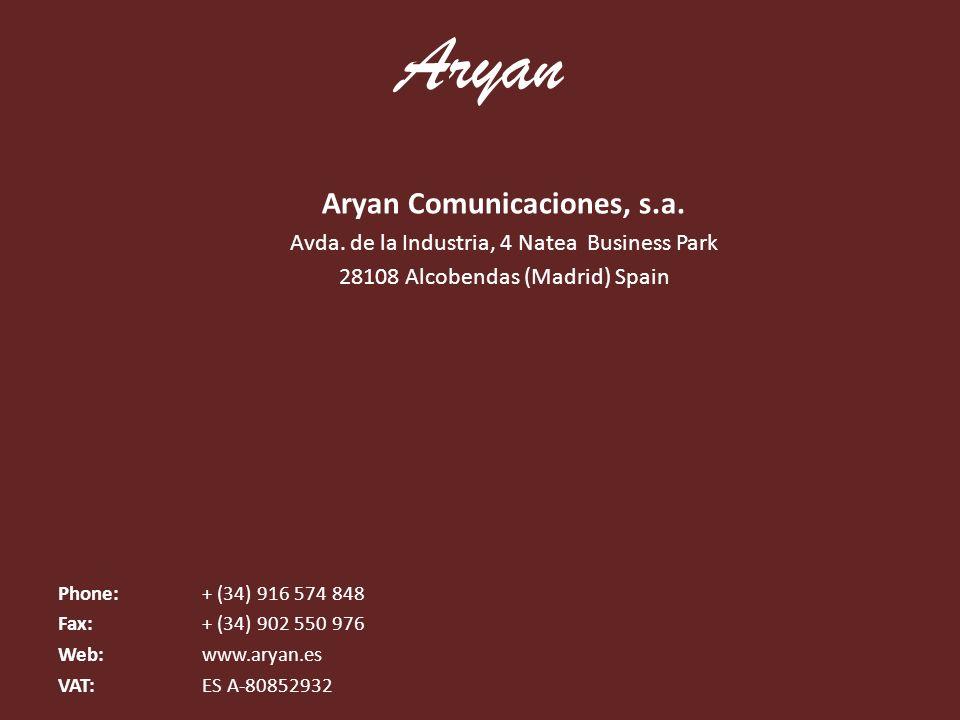 Aryan Comunicaciones, s.a.