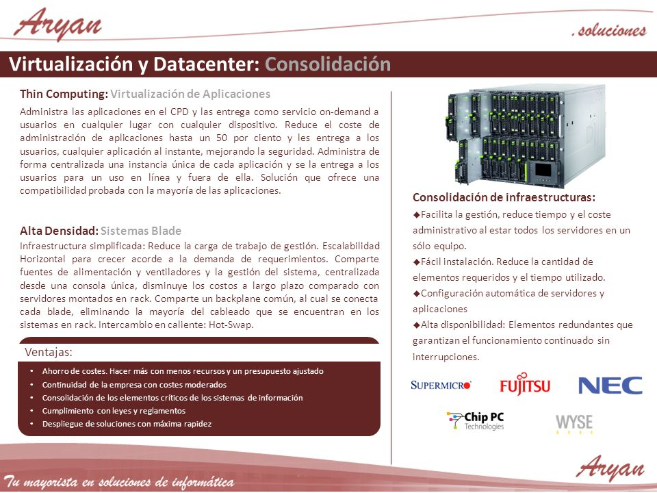 Virtualización y Datacenter: Consolidación