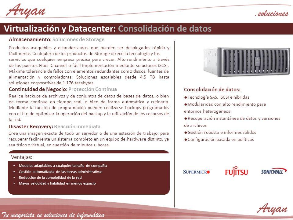 Virtualización y Datacenter: Consolidación de datos