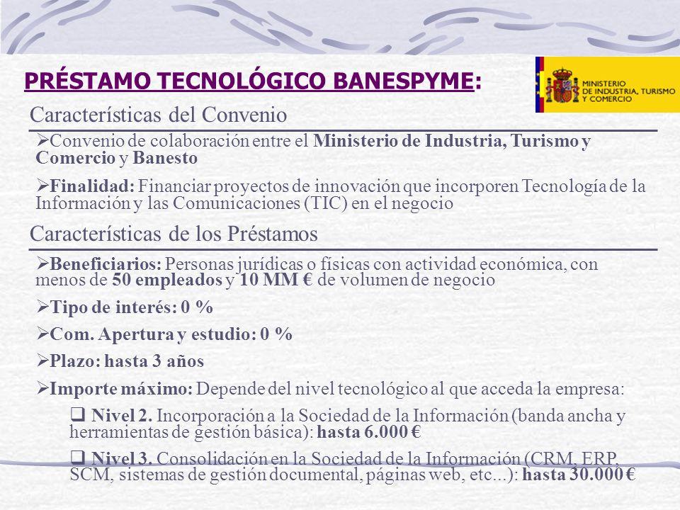 PRÉSTAMO TECNOLÓGICO BANESPYME: