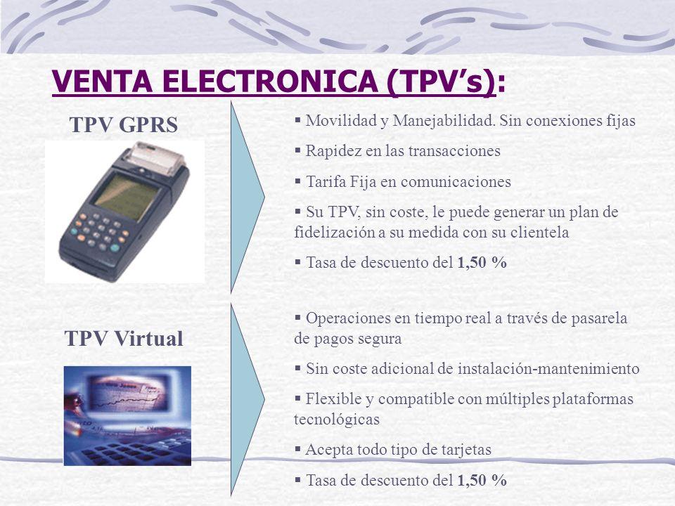 VENTA ELECTRONICA (TPV's):