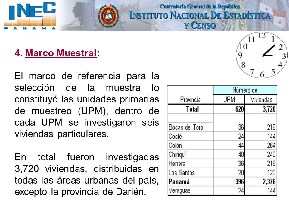 4. Marco Muestral:
