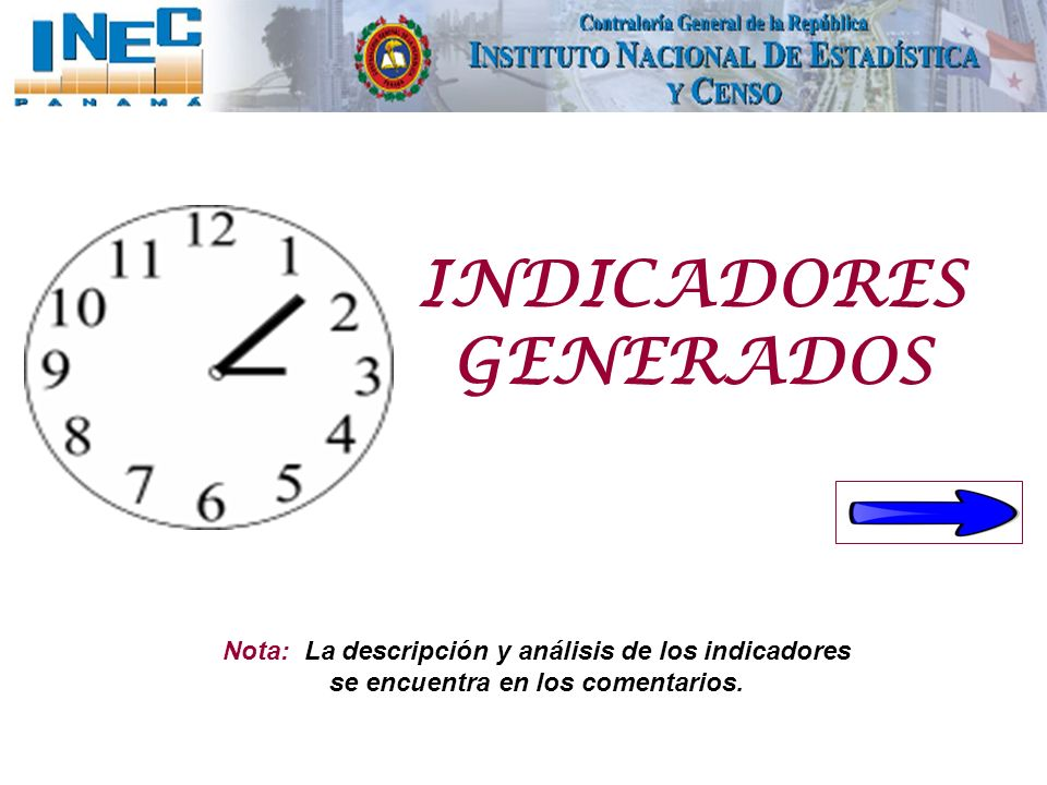 INDICADORES GENERADOS