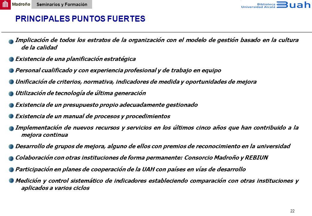 PRINCIPALES PUNTOS FUERTES
