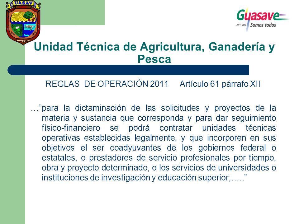 Unidad Técnica de Agricultura, Ganadería y Pesca