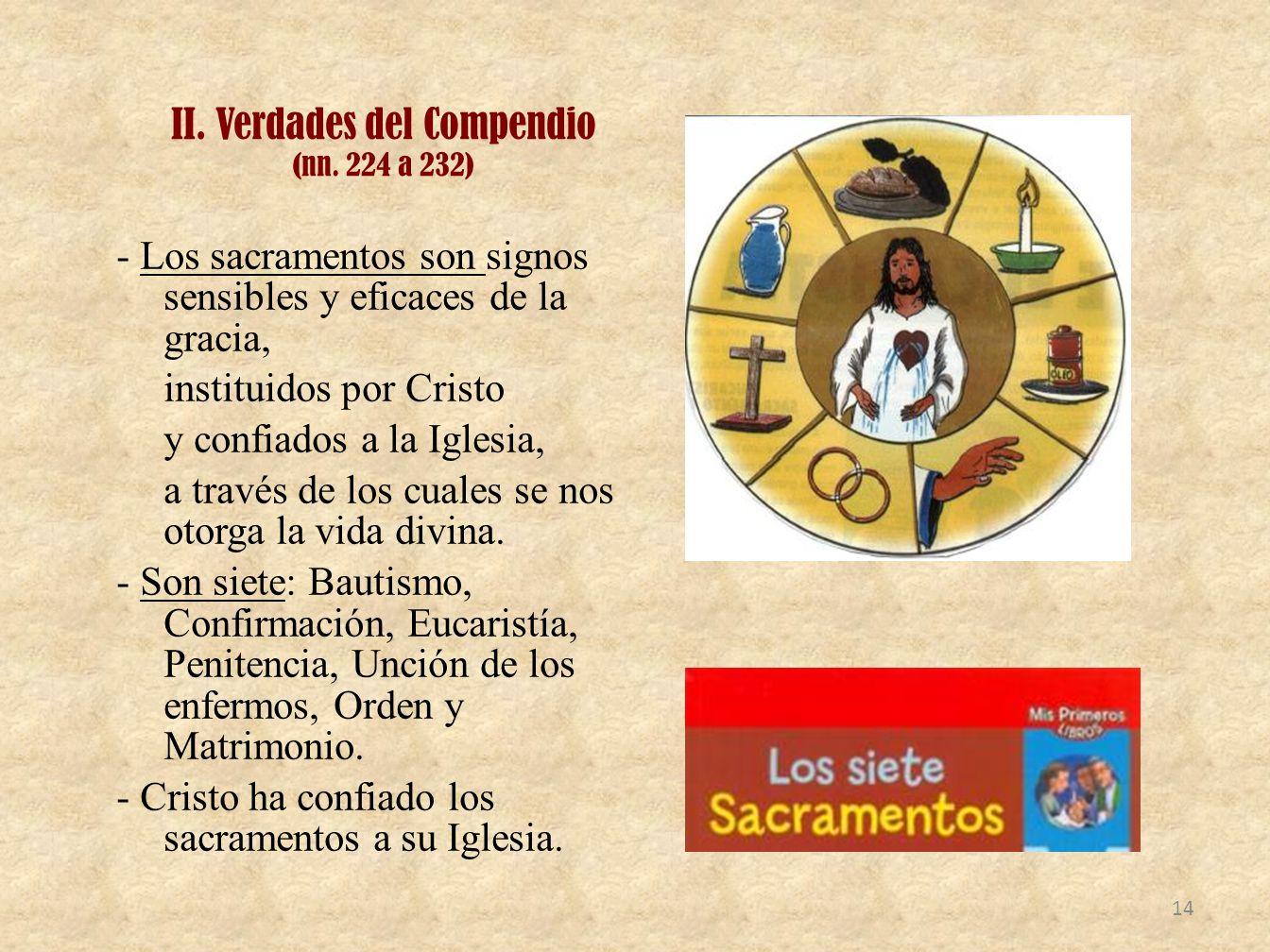 II. Verdades del Compendio (nn. 224 a 232)