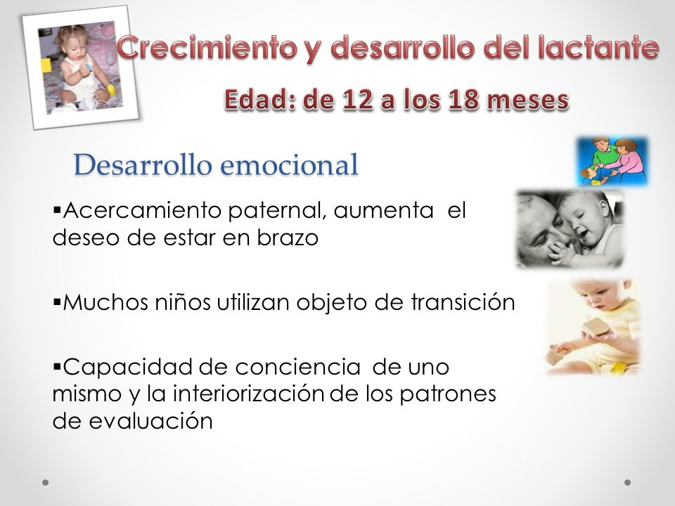 Crecimiento y desarrollo del lactante