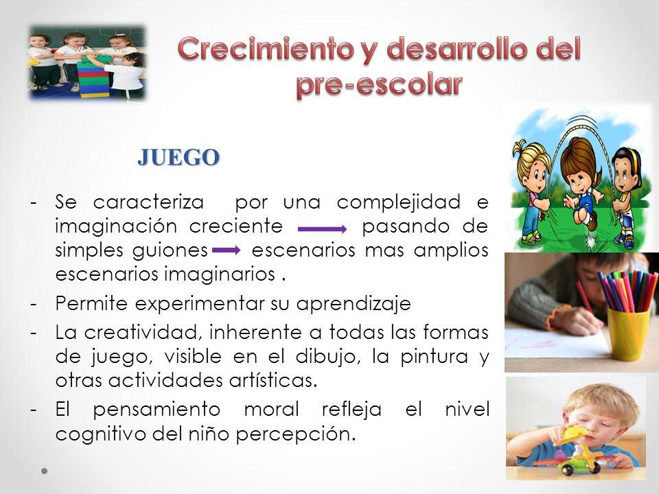 Crecimiento y desarrollo del pre-escolar